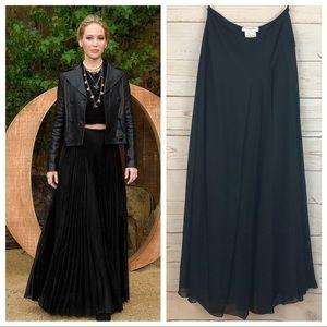 Christian Dior Silk Asymmetrical Formal Maxi Skirt